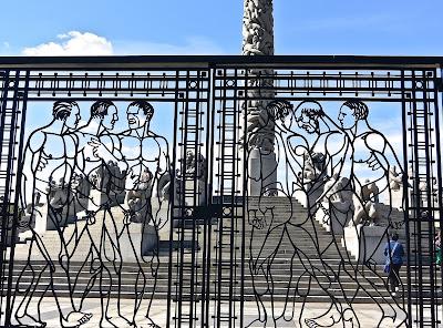 Oslo Parc Vigeland : grilles en fer forgé