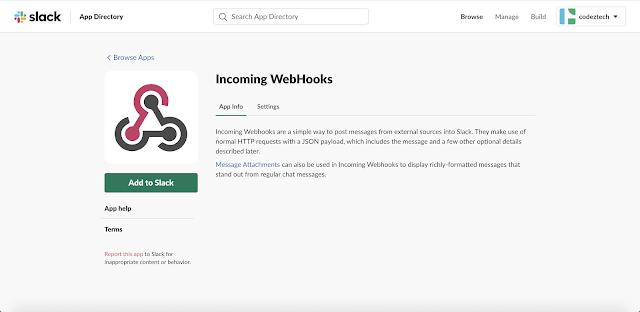 Incoming WebHooks