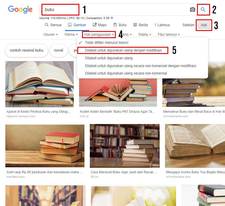 Cara Mencari Gambar Bebas Hak Cipta di Google - mingseli.id