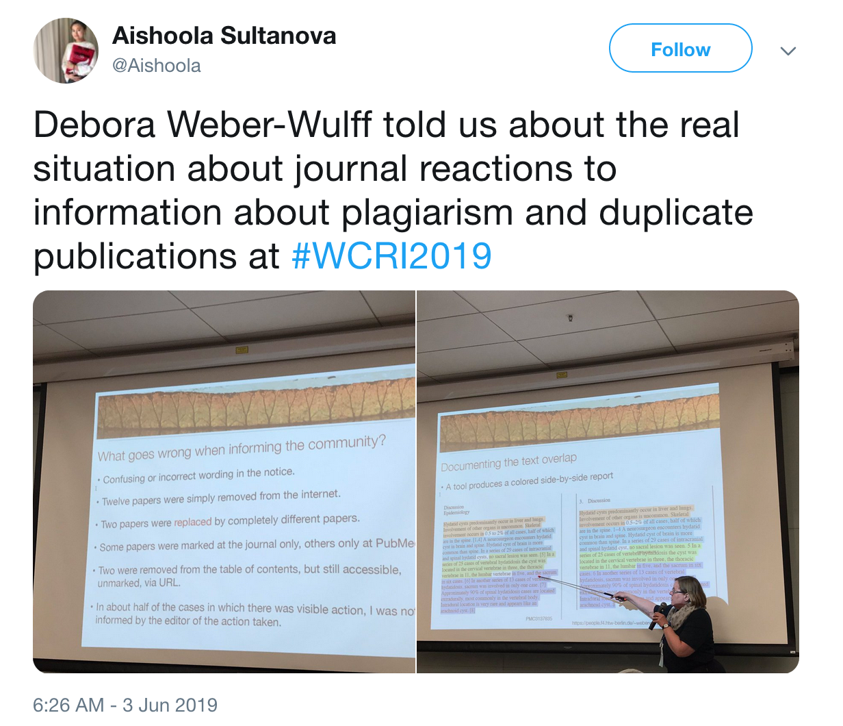 Copy, Shake, and Paste: WCRI 2019 - Day 1a