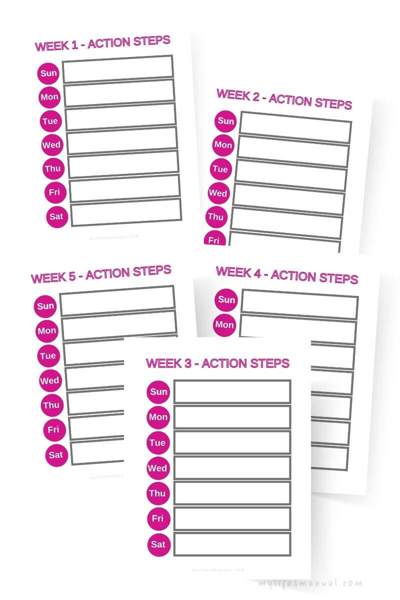 Goal Planning action steps