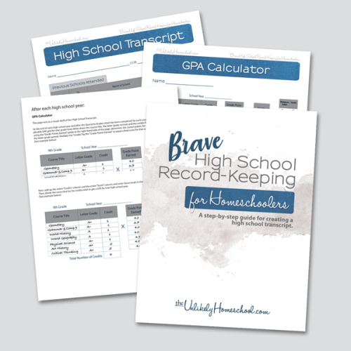 Brave High School Record-Keeping for Homeschoolers #homeschool #highschool #homeschoolmom