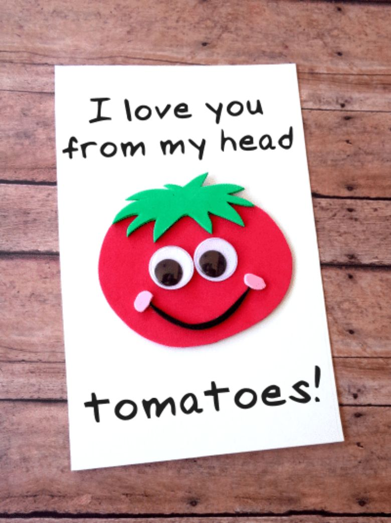 Pun Father's Day Tomato Card