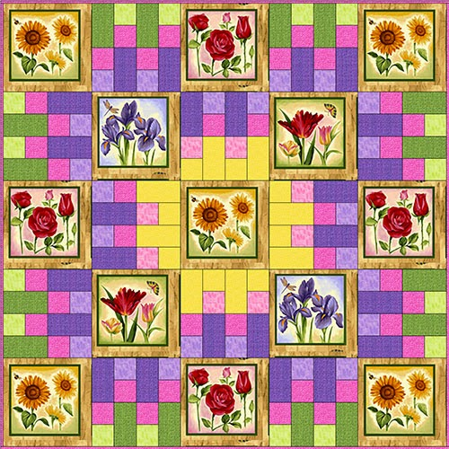 Flower Garden pieced