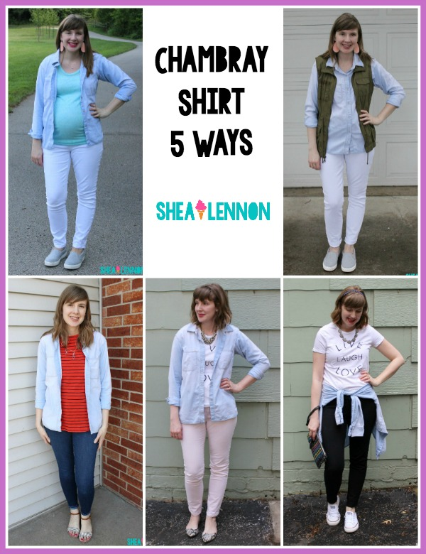 5 ways to style a chambray shirt | www.shealennon.com
