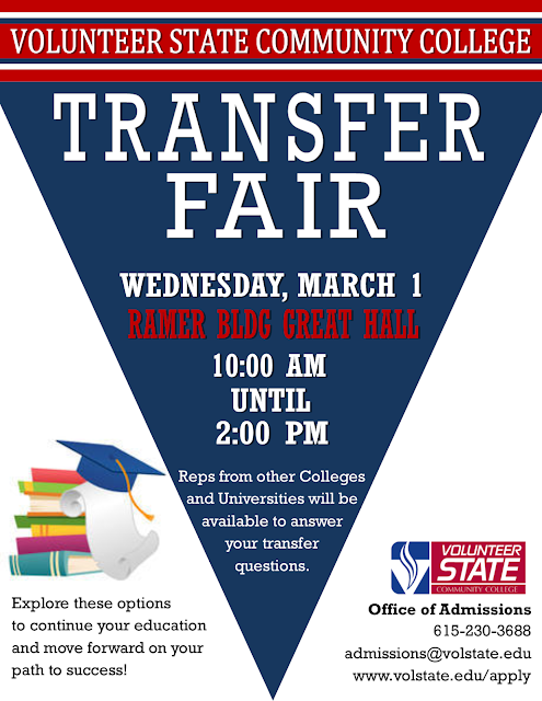 Transfer Fair March 1: University Reps on Gallatin Campus