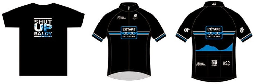 Tshirt and Jersey of 2015 L'Etape California