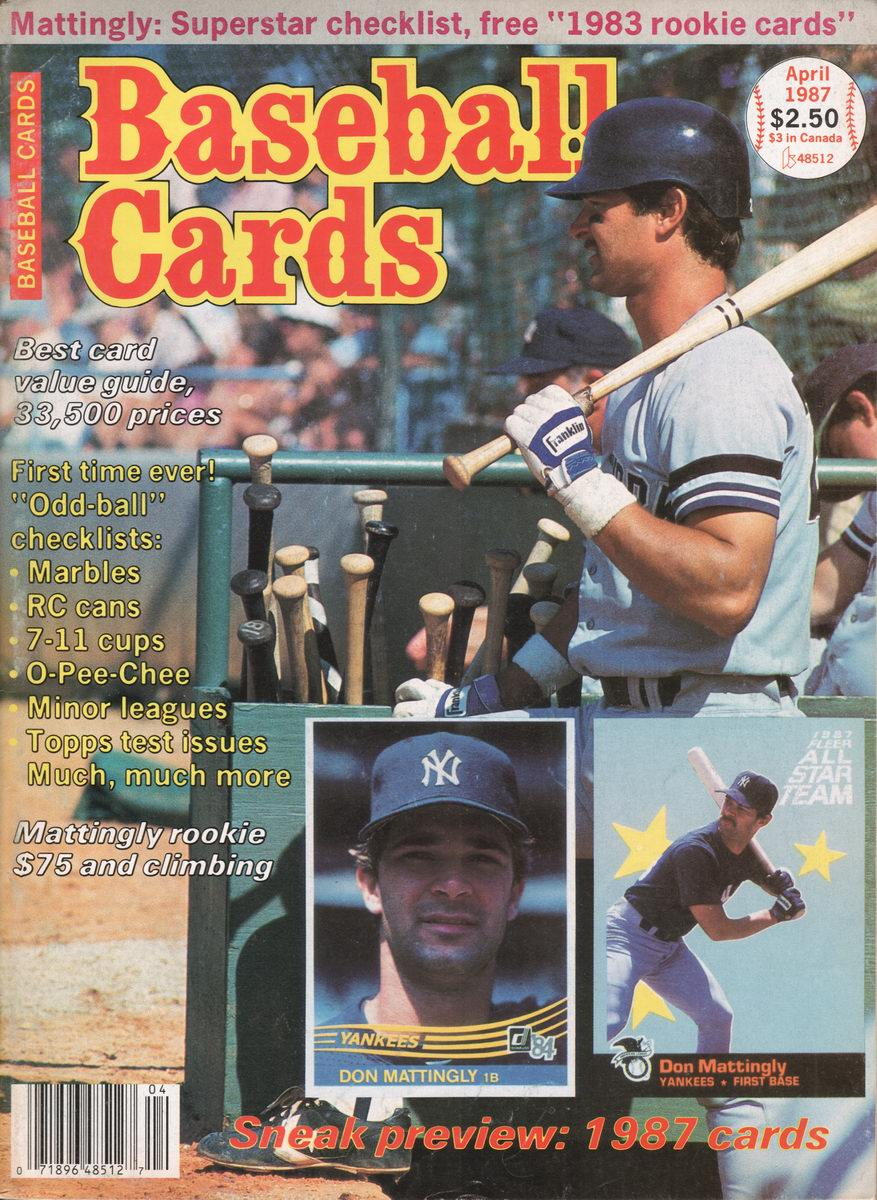 Clyde S Stale Cards 1987 Baseball Cards Magazine Index