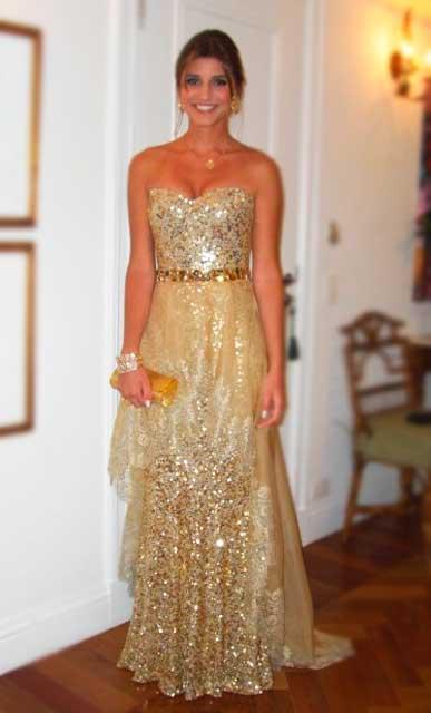 Maria Rudge vestido festa