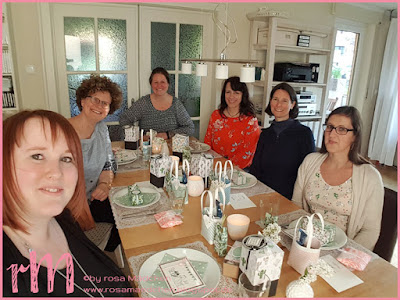 Stampin' Up! rosa Mädchen Kulmbach: Teamtreffen bei Moni in Coburg