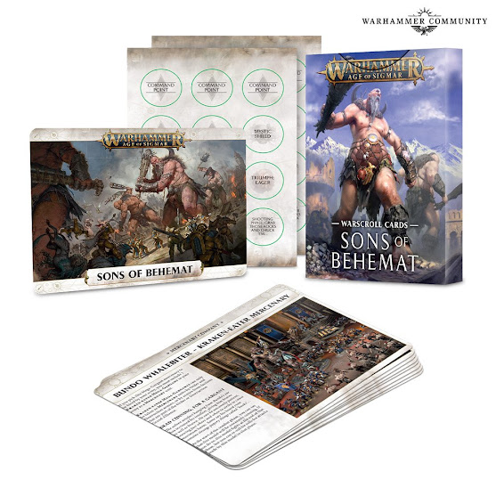 warscroll cards Sons of Behemat
