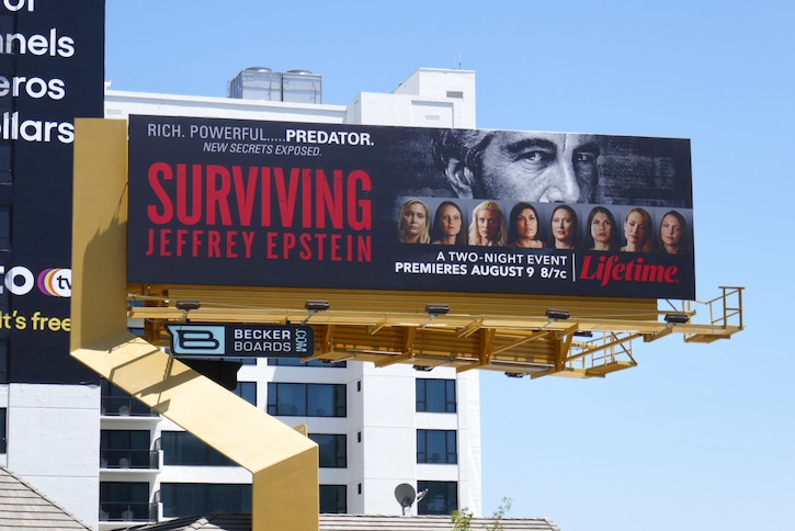 Surviving Jeffrey Epstein billboard