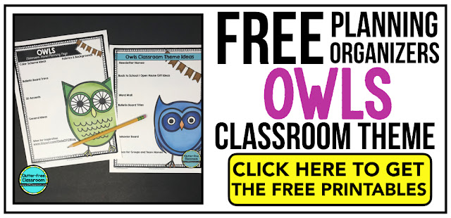OWL Theme Classroom: If you're an elementary teacher who is thinking about an owl theme then this classroom decor blog post is for you. It'll make decorating for back to school fun and easy. It's full of photos, tips, ideas, and free printables to plan and organize how you will set up your classroom and decorate your bulletin boards for the first day of school and beyond.