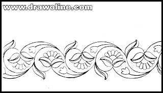 hand embroidery borderline design images,saree border design drawing easy,