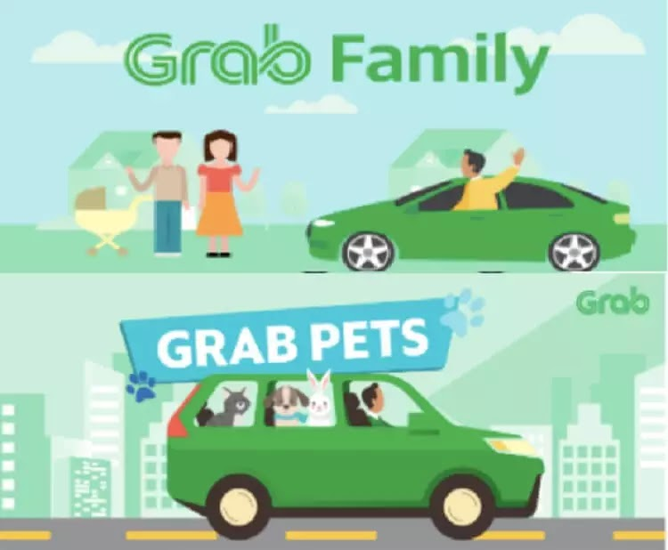 Grab Adds GrabFamily, GrabPet to Its App Options