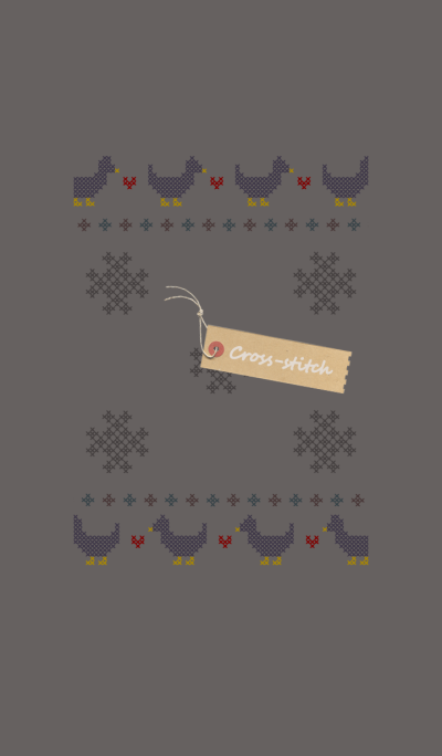 Cross-stitch + brownish gray [os]