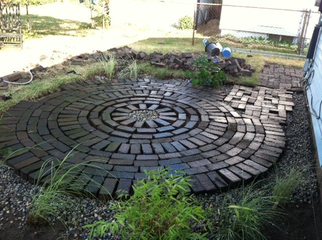 Creative Endeavors: Brick Patio Tutorial on Backyard Brick Patio id=67329
