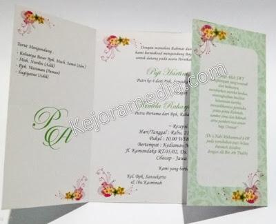 undangan pernikahan tema bunga indramayu