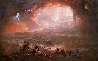 A nightmarish vision of the 79AD eruption is conveyed in this painting by the 19th century British artist, John Martin