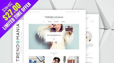 Trendomania v1.0 | Creativemarket Responsive Lifestyle & Fashion WordPress Blog Theme
