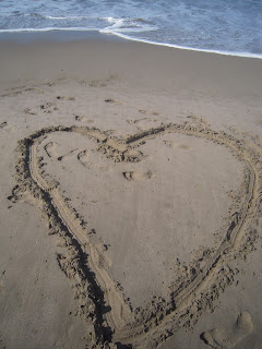 Photo of Heart Drawn in the Sand by Linda G. Hatton