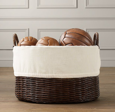 rattan toy basket