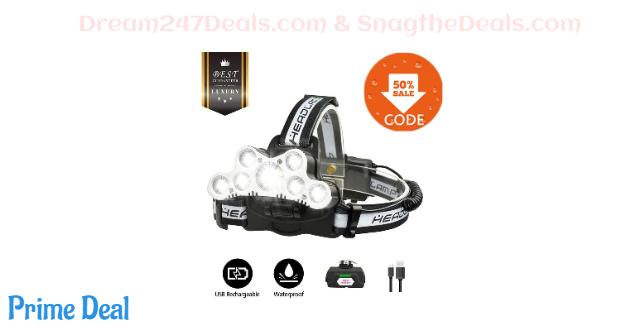 OUTERDO LED Headlamp Headlight 50.03% OFF