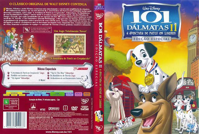 Capa DVD 101 DÁLMATAS II a aventura de Patch em Londres