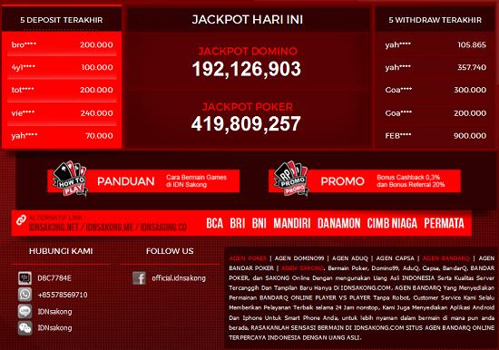 IDNSAKONG Agen BandarQ Judi Sakong Bandar Poker Domino99 Online