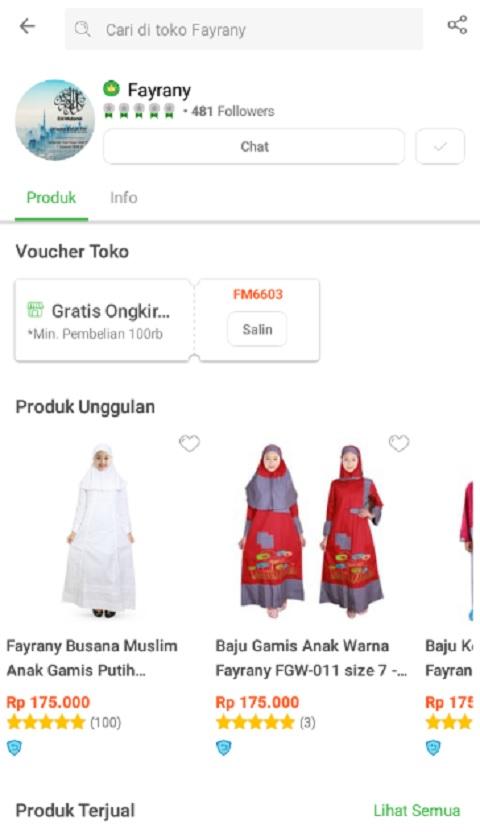 Fayrany Sebagai Toko Baju Muslim Terlaris di Tokopedia