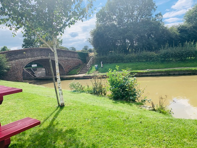 View of the canal, Lock 3 at Braunston