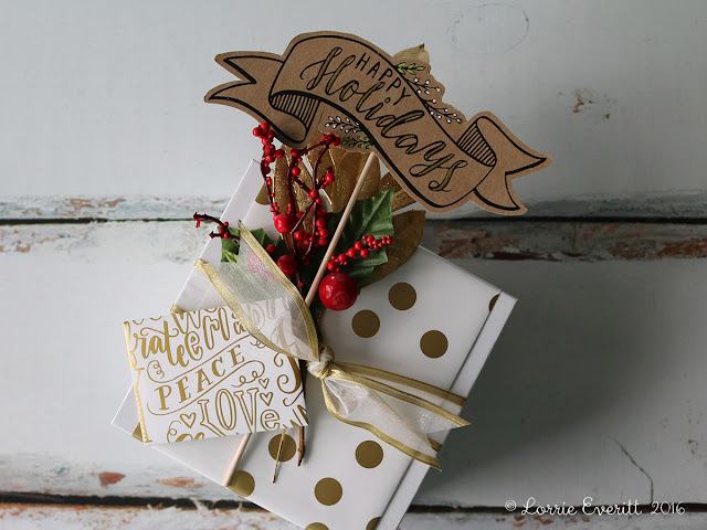 gift wrapping inspiration using wrapping paper scraps | Lorrie Everitt Studio
