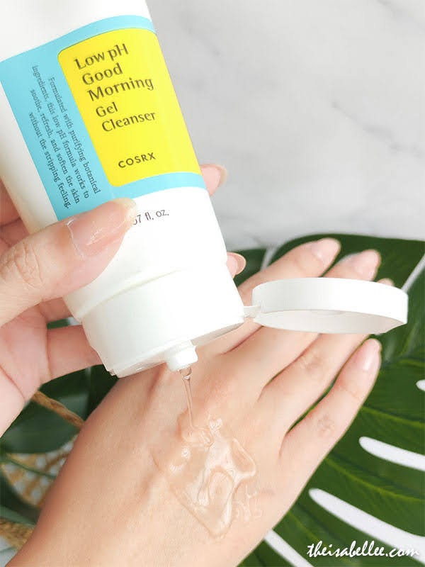 COSRX Low pH Good Morning Gel Cleanser Review Threebs 2