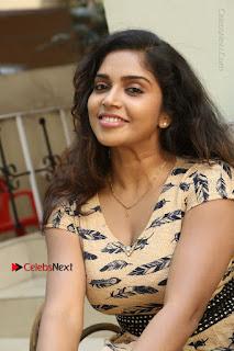 Telugu Actress Karunya Chowdary Stills in Short Dress at ATM Not Working Press Meet  0166.jpg