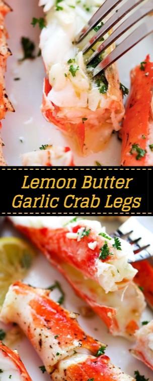 Lemon Butter Garlic Crab Legs