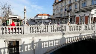 Prešeren Square is connected by a bridge