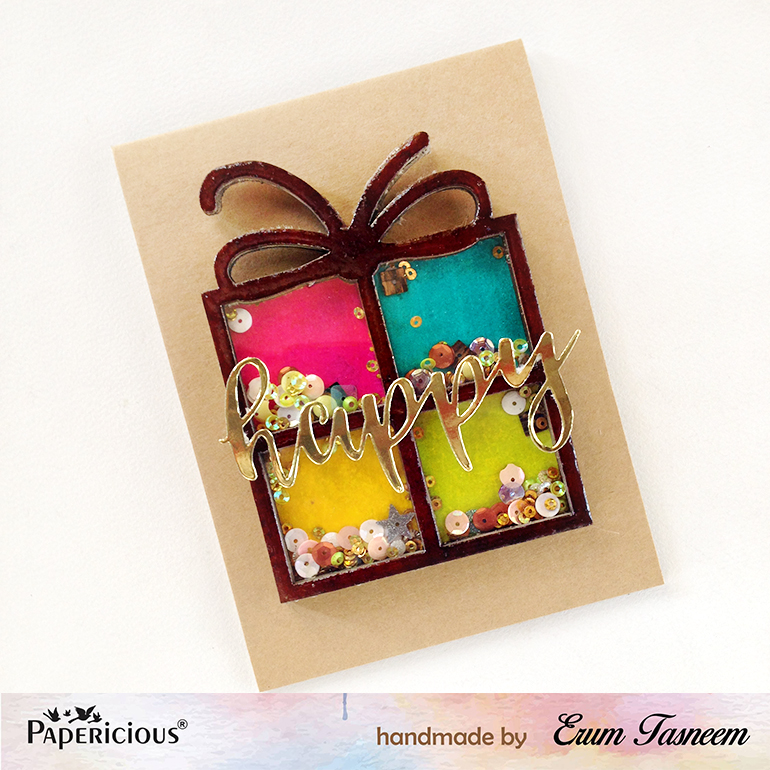 Papericious 3D chipboard | Erum Tasneem | @pr0digy0
