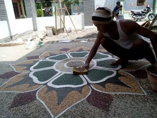 Jasa batu sikat Harga Borongan Carport