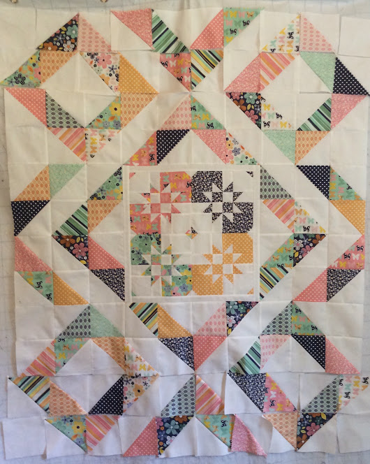 WIP Another Baby Girl Quilt