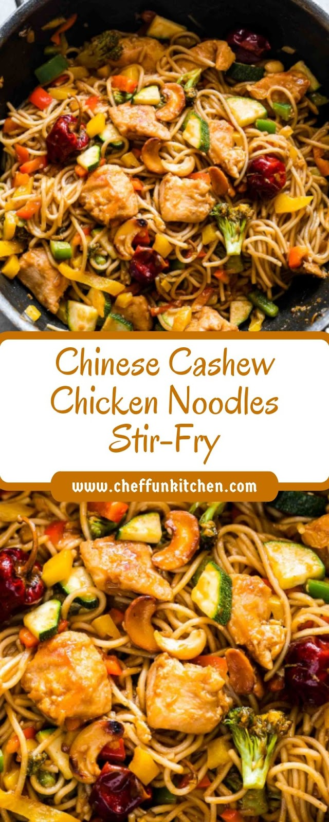 Chinese Cashew Chicken Noodles Stir-Fry