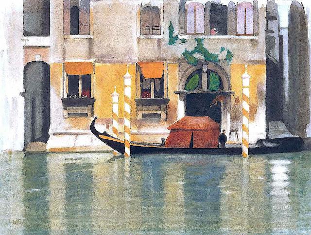 Willem Witsen art, a gondola in Venice