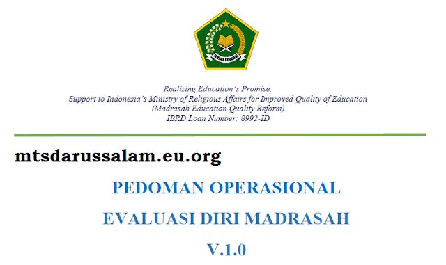 Pedoman Operasional (EDM) Evaluasi Diri Madrasah