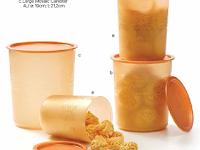 Koleksi Toples Lengkap Mosaic Canister Gold Tupperware (4)