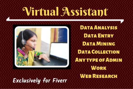 I will be your ideal virtual assistant for web research and admin support :