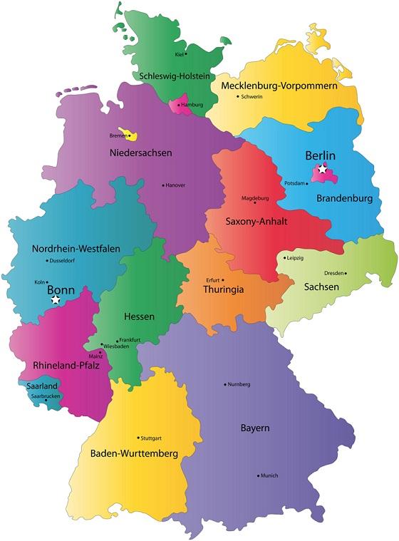 Heloohaloo 25 Heerlijk Kaart Duitsland Regio S