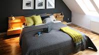 Contemporary design for attic bedroom idea