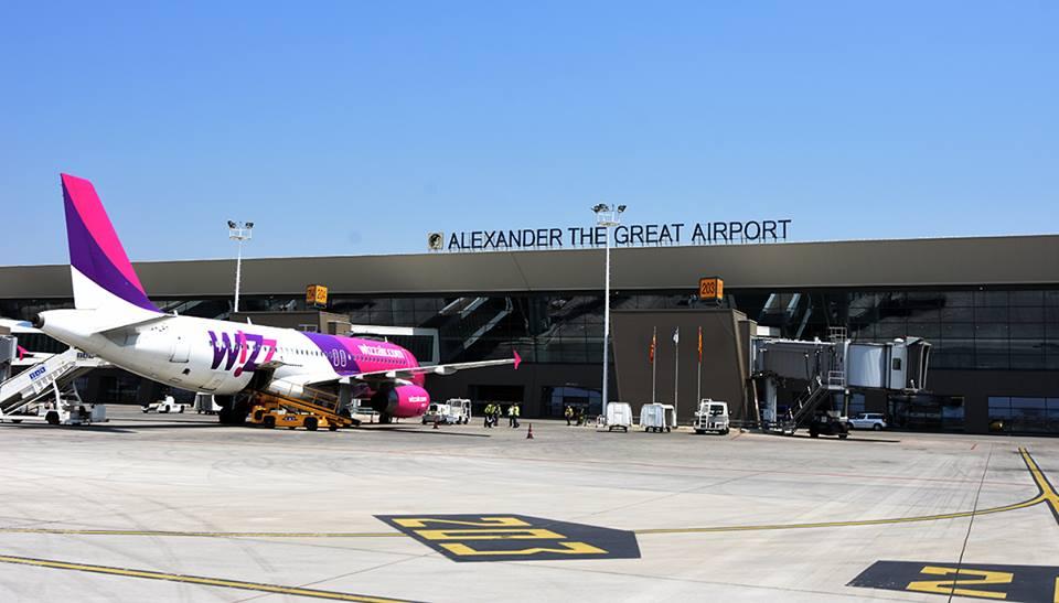 Flughafen Skopje, Mazedonien