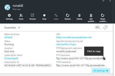 cara upload website ke windows azure