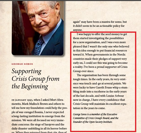 """Από το 2011 η ΜΚΟ του Σόρος """"International Crisis Group"""" έχει έτοιμο σχέδιο συμφωνίας Ελλάδας με την Τουρκία..."""