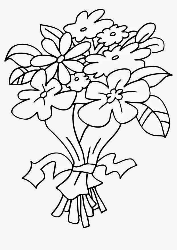 FUN & LEARN : Free worksheets for kid: ภาพระบายสี ช่อดอกไม้